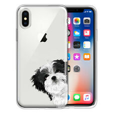 """For Apple iPhone X/ Xs 5.8"""" Dog Cat Ultra Thin Clear Tpu Silicone Case Cover"""