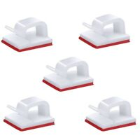 100 Self-Adhesive Cable Management Clips, Suitable for TV, Computer, Laptop M9G6