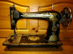 1921 ANTIQUE SINGER SEWING MACHINE HEAD MODEL 127 'SPHINX', SERVICED