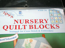 Nursery Quilt Blocks Children's zoo pattern by Jack Dempsey contains 12  9 x 9