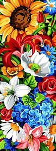 SEG de Paris Tapicería / Bordados Lienzo – Floral Pared (Mur Floral)