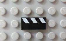 LEGO Tile 1x2 Partial Stripes White Pattern 10014 1374 4069 10013 1376 1349 1356