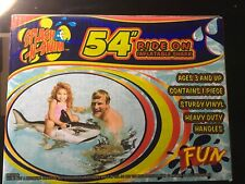 "New - Splash N Swim 54"" Ride on Inflatable Shark"