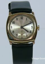 VINTAGE STOLKACE 9K SOLID GOLD HAND WIND UP W/WATCH