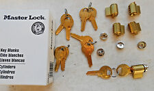 5 MASTER lock  PADLOCK cylinders   with 5 adaptors and  10 keys # 2508