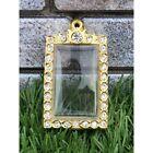 Empty case frame Phra Somdej Somdet Gold Micron Gem Thai Amulet Pendant 3 4cm cm