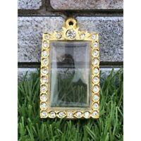 Empty case frame Phra Somdej Somdet Gold Micron Gem Thai Amulet Pendant 3*4cm cm