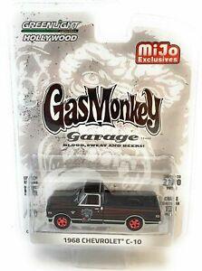 "GREENLIGHT ""GAS MONKEY GARAGE"" 1:64 1968 BLACK CHEVY C-10 PICK UP TRUCK 51120-A"