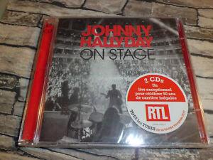 CD JOHNNY HALLYDAY  ON STAGE  /  2 CD 30 TITRES  NEUF