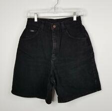 Vtg Lee Super High Waist Denim Mom Jean Shorts 8 Black 100% Cotton