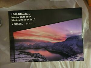 LG 27UK850-W 27 inch Widescreen IPS LED 4K HDR Monitor (New, Factory Sealed)