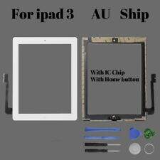 White Touch Screen Digitizer Replacement Kits For iPad 3 with Home Button /Tools