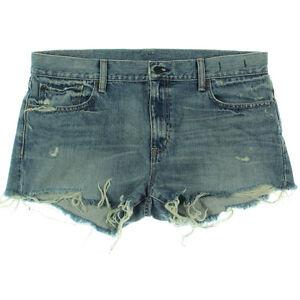 Ralph Lauren Mini Short Destroy Cut Off W31 AU13 US9 UK11 NEW Women Denim&Supply