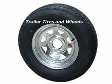Rainier ST205/75R15 LRC Radial Trailer Tire & Wheel Galvanized Spoke 5-4.5