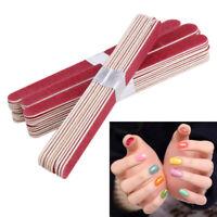 10/40Pcs Nail File Buffer Shiner Finger Toe Manicure Pedicure Polishing Sanding