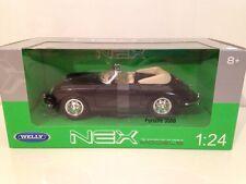 Porsche 356 B Convertible Black Welly 29390K 1:24 Scale New NEX Range