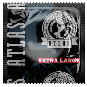 Atlas EXTRA LARGE Condoms ~ 100 bulk pack ~