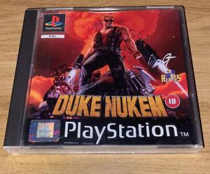 Duke Nukem - PS1 Playstation 1 PS1 with Manual PAL Version 1996