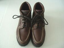 Duck Head Women's Brown Leather Lace- up Ankle Boots Size 9 1/2 M