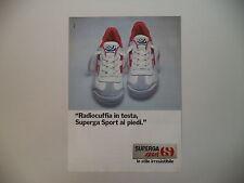 advertising Pubblicità 1981 SCARPE SUPERGA SPORT
