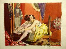 Auguste LEROUX (1871-1954) Dessin Original Fanfarlo Charles Baudelaire