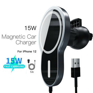 Support Auto Voiture iPhone 12 pro max mini Chargeur MagSafe Car Mount Holder
