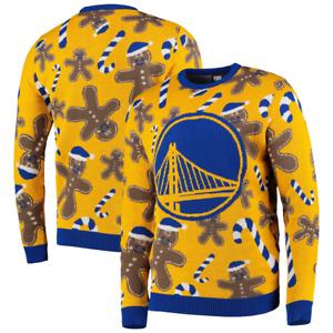 Golden State Warriors Jumper Men's NBA Basketball Christmas Jumper - Yellow- New