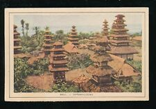 Indonesia BALI Offerhuisjes Used 1934 PPC by Royal Packet Navigation CY