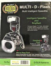 Bilora MACRO RING FLASH D 140 RF x fotocamere digit Nikon Nuovo in confezione