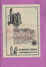 LUDWIGSBURG, Werbung 1939, Perkeo-Stahl Ultra