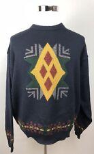 BOSS Hugo Boss Mens Sweater Vintage Crewneck Navy Blue Wool L/XL (no size tag)