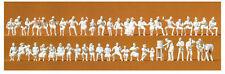 47 unbemalte Figuren Im Biergarten Preiser 16356