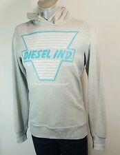 Diesel mens grey hooded sweatshirt hoodie medium