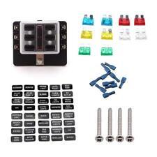 Car RV Boat 6 Way Fuse Holder Block Socket Fusebox With Fuse Terminal Kit