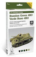 VALLEJO AFV ARMOUR PAINTING SYSTEM RUSSIAN GREEN 4BO COD.AV78403