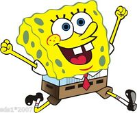 2 X SPONGE BOB SQUARE PANTS WALL ART Sticker DECAL GRAPHIC 100mm high ANY USE
