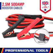 New 500AMP Jump Leads 2.5M Long Surge Protected Jumper Car Booster Cables