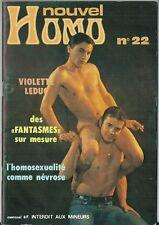Nouvel Homo # 22 1977 Gay homosexualité au Pays Bas Vampirisme fantasmes