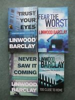 Bundle x 4 Linwood Barclay books, Never Saw it Coming, Trust Your Eyes, Fear