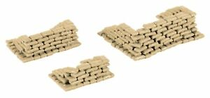 Herpa 745833 Military Building Set of 200 Sandbags 1:87 Scale for Airport Dio...