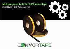 Multipurpose Anti Rattle Squeak Self Adhesive Felt Tape Car Van Truck 25mm X 2m