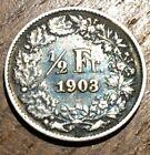 PIECE DE 1/2 FRANC SUISSE ARGENT 1903 (223) 800000 EXEMPLAIRES SEULEMENT