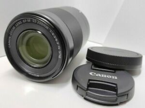 CANON ZOOM LENS EF-M 55-200mm f/4.5-6.3 IS STM w/ Caps [Excellent+++] from Japan