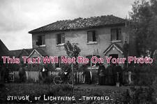 BK 29 - Houses Struck by Lightning, Twyford, Berkshire c1910 - 6x4 Photo