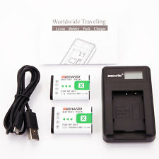Lot2 NP-BX1 Battery + Charger for Sony NPBX1 DSC-RX1 RX100 M2 III HX80