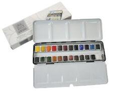 WINSOR & NEWTON ARTISTI professionali di elevata qualità acquerello 24 Half Pan METAL BOX