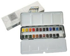 Winsor & Newton Artists Professional Quality Watercolour 24 Half Pan Metal Box
