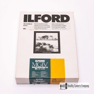 Ilford Photographic Paper 5x7 in. Multigrade IV RC Deluxe Satin Sheets 100 Count