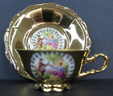 Waldershof Bavaria Germany Vintage Fragonard Ingeborg Gold Cup and Saucer
