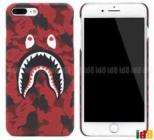 US SELLER- A Bathing Ape Bape ABC Camo Shark Phone Case For iPhone 8 7 Plus 6 6S